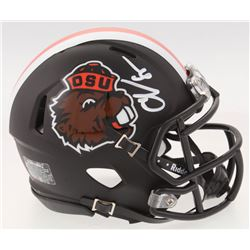 Chad Johnson Signed Oregon State Beavers Matte Black Speed Mini-Helmet (Radtke COA)