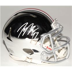 Joey Bosa Signed Ohio State Buckeyes Chrome Speed Mini Helmet (Radtke COA)