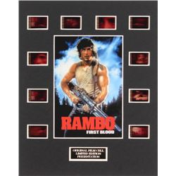 """Rambo: First Blood"" LE 8x10 Custom Matted Original Film / Movie Cell Display"