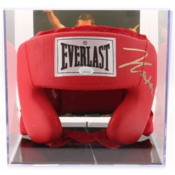 Julio César Chávez Signed Everlast Head Gear with Display Case (JSA COA)