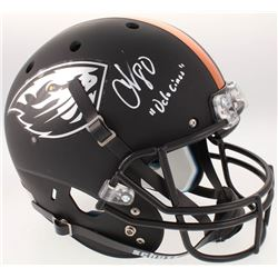 "Chad Johnson Signed Oregon State Beavers Full-Size Matte Black Helmet Inscribed ""OchoCinco"" (Radtke"