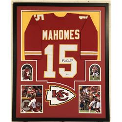 Patrick Mahomes II Signed Kansas City Chiefs 34x42 Custom Framed Jersey (Beckett COA)