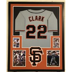 Will Clark Signed San Francisco Giants 34x42 Custom Framed Jersey (JSA COA)