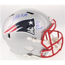"LeGarrette Blount Signed New England Patriots Full-Size Speed Helmet Inscribed ""2x SB Champ"" (Radtke"