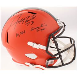 "Joe Thomas Signed Cleveland Browns Full-Size Speed Helmet Inscribed ""10,363 Consecutive Snaps"" (Schw"