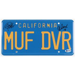 Cheech Marin  Tommy Chong Signed  Up in Smoke  License Plate Inscribed  18  (Beckett COA)