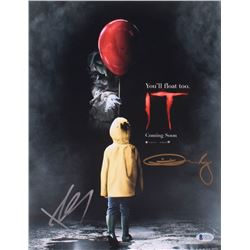 "Bill Skarsgard  Andy Muschietti Signed ""IT"" 11x14 Photo (Beckett COA)"