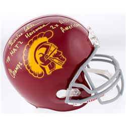 """Charles White Signed USC Trojans Full-Size Helmet Inscribed """"'78 NAT'L Champs"""", """"Heisman""""  """"2x All-A"""
