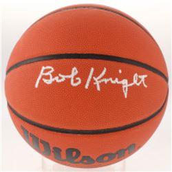 Bob Knight Signed Basketball (Schwartz COA)