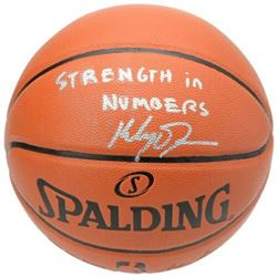"""Klay Thompson Signed Spalding Basketball Inscribed """"Strength in Numbers"""" (Fanatics Hologram)"""