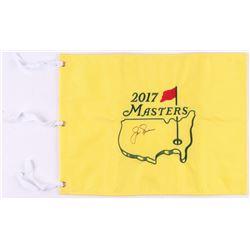 Jack Nicklaus Signed 2017 Masters Pin Flag (JSA LOA)