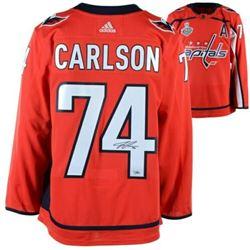John Carlson Signed Washington Capitals 2018 Stanley Cup Final Alternate Captain Jersey (Fanatics Ho