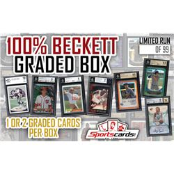 "Sportscards.com ""100% Beckett Graded Mystery Box"" 1 or 2 BGS/BCCG Graded Cards Per Box!"