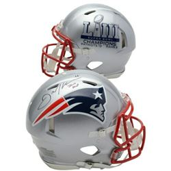 Julian Edelman Signed New England Patriots Super Bowl LIII Full-Size Authentic On-Field Speed Helmet