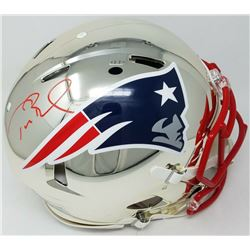 Tom Brady Signed New England Patriots Full-Size Authentic On-Field Chrome Speed Helmet (TriStar Holo
