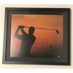 """Tiger Woods Signed """"Sunrise"""" 20x24 Custom Framed Photo (UDA COA)"""