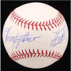 """Christopher Lloyd Signed OML Baseball Inscribed """"Doc"""" (PSA COA)"""