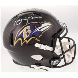 Ray Lewis Signed Baltimore Ravens Full-Size Speed Helmet (Beckett COA)