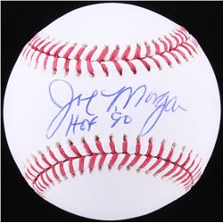 Joe Morgan Signed OML Baseball Inscribed  HOF 90  (JSA COA)