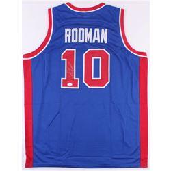 Dennis Rodman Signed Detroit Pistons Jersey (JSA COA)