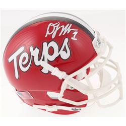 D. J. Moore Signed Maryland Terrapins Mini Helmet (JSA COA)