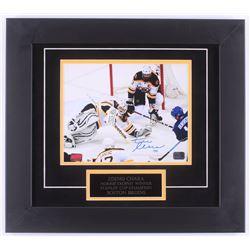 Zdeno Chara Signed Bruins 16.5x18.5 Custom Framed Photo Display (Chara Hologram)
