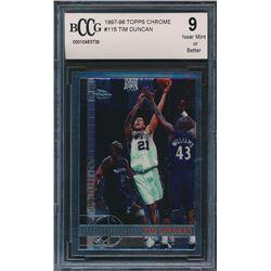 1997-98 Topps Chrome #115 Tim Duncan RC (BCCG 9)