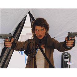 "Milla Jovovich Signed ""Resident Evil"" 11x14 Photo (PSA COA)"