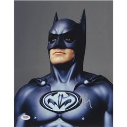 "George Clooney Signed ""Batman  Robin"" 11x14 Photo (PSA COA)"