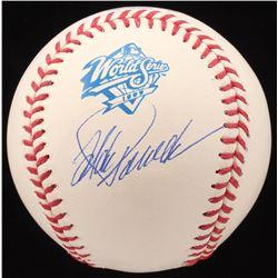 Jorge Posada Signed 1999 World Series Baseball (JSA COA)
