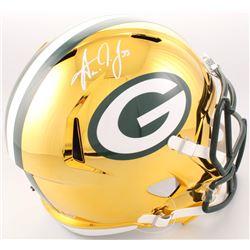 Aaron Jones Signed Green Bay Packers Full-Size Speed Helmet (Beckett COA)