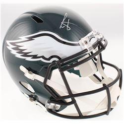 Cris Carter Signed Philadelphia Eagles Full-Size Speed Helmet (JSA COA)