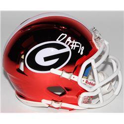 DeAndre Baker Signed Georgia Bulldogs Chrome Mini Speed Helmet (Radtke COA)
