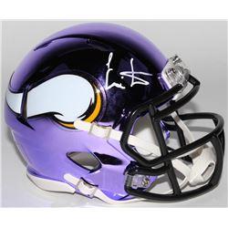 Cris Carter Signed Minnesota Vikings Chrome Speed Mini-Helmet (JSA COA)
