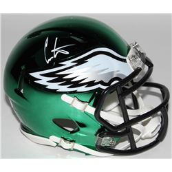 Cris Carter Signed Philadelphia Eagles Chrome Speed Mini-Helmet (JSA COA)
