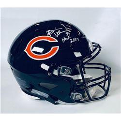 "Brian Urlacher Signed Chicago Bears Full-Size Authentic On-Field Speedflex Helmet Inscribed ""HOF 201"