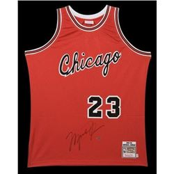 Michael Jordan Signed Chicago Bulls Mitchell  Ness Authentic Rookie Jersey (UDA COA)