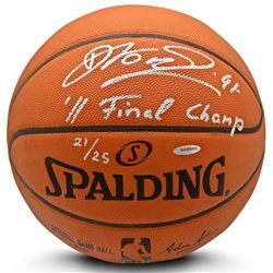 """Dirk Nowitzki Signed Limited Edition NBA Game Ball Basketball Inscribed """"'11 Finals Champ"""" (UDA COA)"""