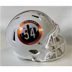 Brian Urlacher Signed Hall of Fame Logo Full-Size Speed Helmet (JSA Hologram)