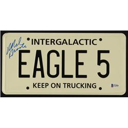 "Mel Brooks Signed ""Spaceballs"" License Plate (Beckett COA)"