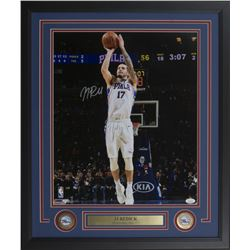 J.J. Redick Signed Philadelphia 76ers 22x27 Custom Framed Photo Display (JSA COA)