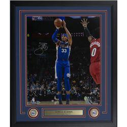 Tobias Harris Signed Philadelphia 76ers 22x27 Custom Framed Photo Display (Beckett COA)