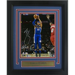 Tobias Harris Signed Philadelphia 76ers 11x14 Custom Framed Photo Display (Beckett COA)