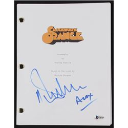 "Malcolm McDowell Signed ""A Clockword Orange"" Full Movie Script Inscribed ""Alex"" (Beckett COA)"