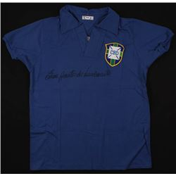 Pele Signed Brazil 1958 World Cup Final Jersey (PSA COA)