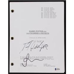 """Daniel Radcliffe  Rupert Grint Signed """"Harry Potter and the Chamber of Secrets"""" Full Movie Script (B"""