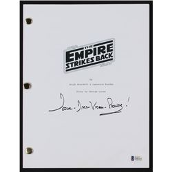 "David Prowse Signed ""Star Wars: The Empire Strikes Back"" Full Movie Script Inscribed ""Darth Vader!"""