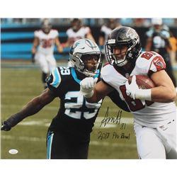 "Austin Hooper Signed Atlanta Falcons 16x20 Photo Inscribed ""2018 Pro Bowl"" (JSA COA)"