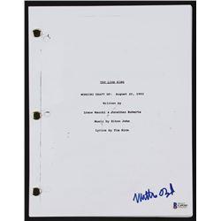 "Matthew Broderick Signed ""The Lion King"" Full Movie Script (Beckett COA)"