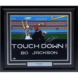 Bo Jackson Signed Los Angeles Raiders 22x27 Custom Framed Photo Display (Beckett COA)